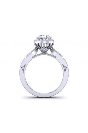 Designer modern round halo diamond ring WIST-1538-M WIST-1538-M