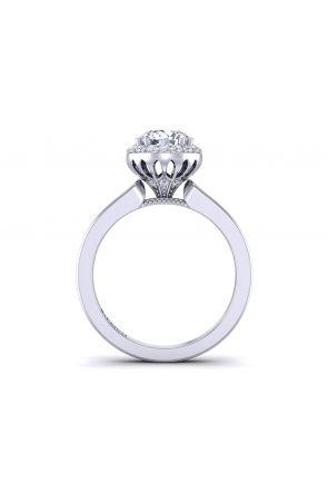 Petite round channel set diamond halo engagement ring WIST-1538-Q WIST-1538-Q