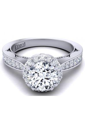 Modern pavé set tapered band wedding ring WIST-1538-RB WIST-1538-RB